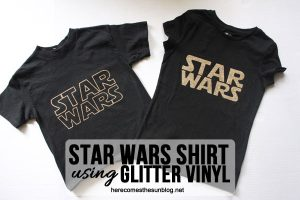 Star Wars Shirt with Glitter Vinyl