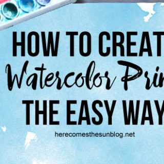 How to Create Watercolor Prints the Easy Way