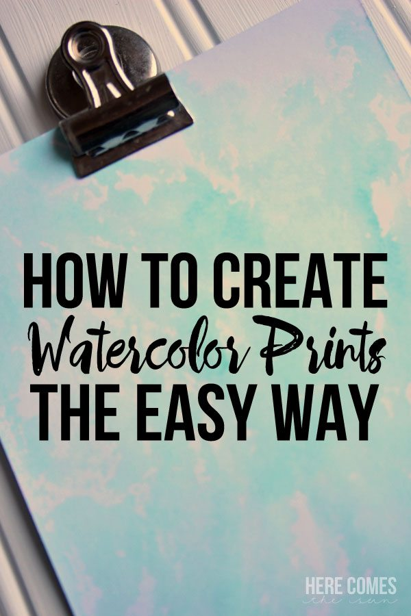 Watercolor painting has never been easier. Create beautiful watercolor prints in minutes with this easy technique.