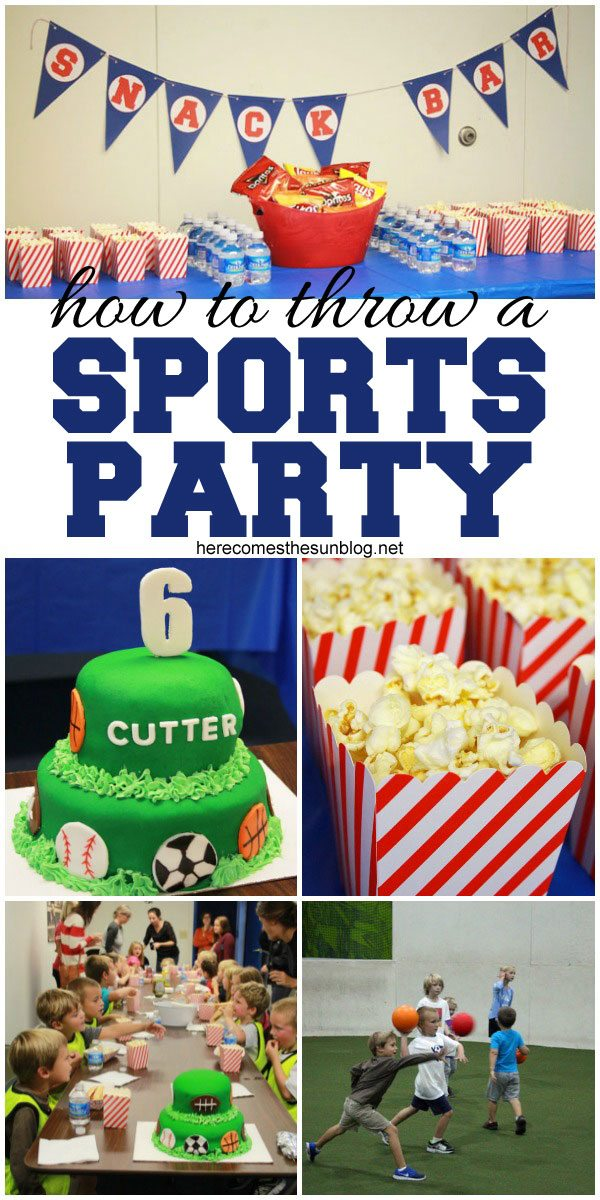 Easy tips for a fun and affordable Sports Party!