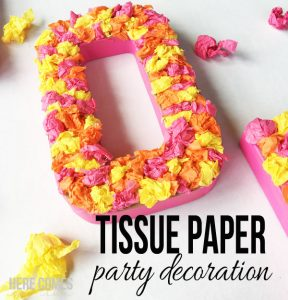Tissue Paper Party Decoration