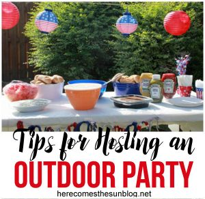 Tips for Hosting an Outdoor Party