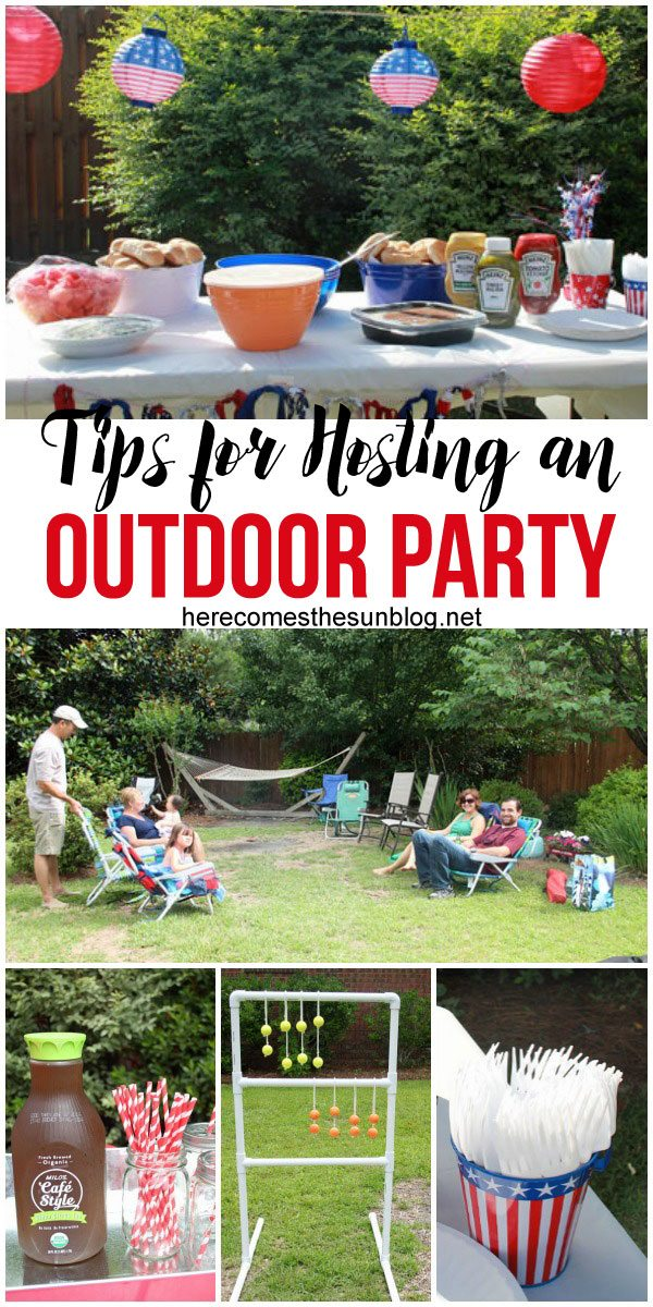 An outdoor party is easy to host with these simple tips!