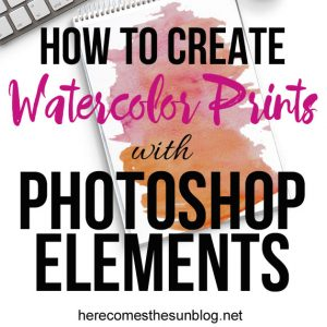How to Create Digital Watercolor Prints with Photoshop Elements