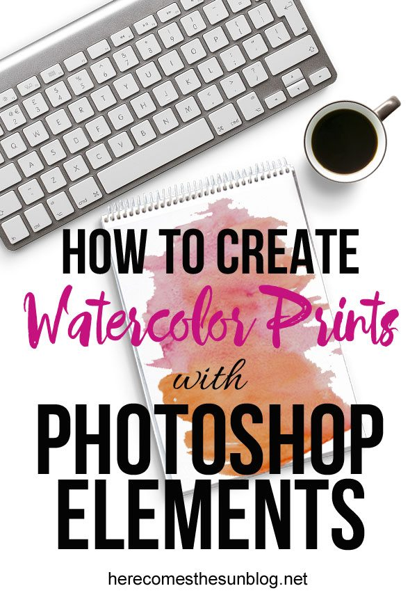 Learn how to create digital watercolor prints with Photoshop Elements!