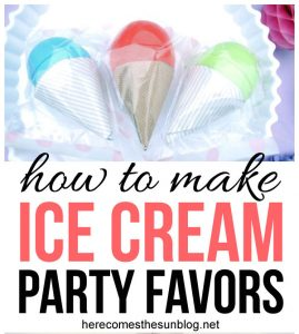 How to Make Ice Cream Party Favors