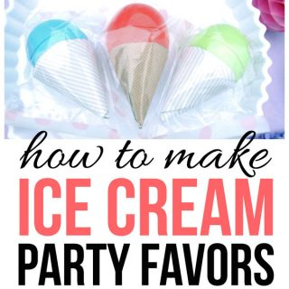 Make these adorable ice cream party favors with this easy tutorial!