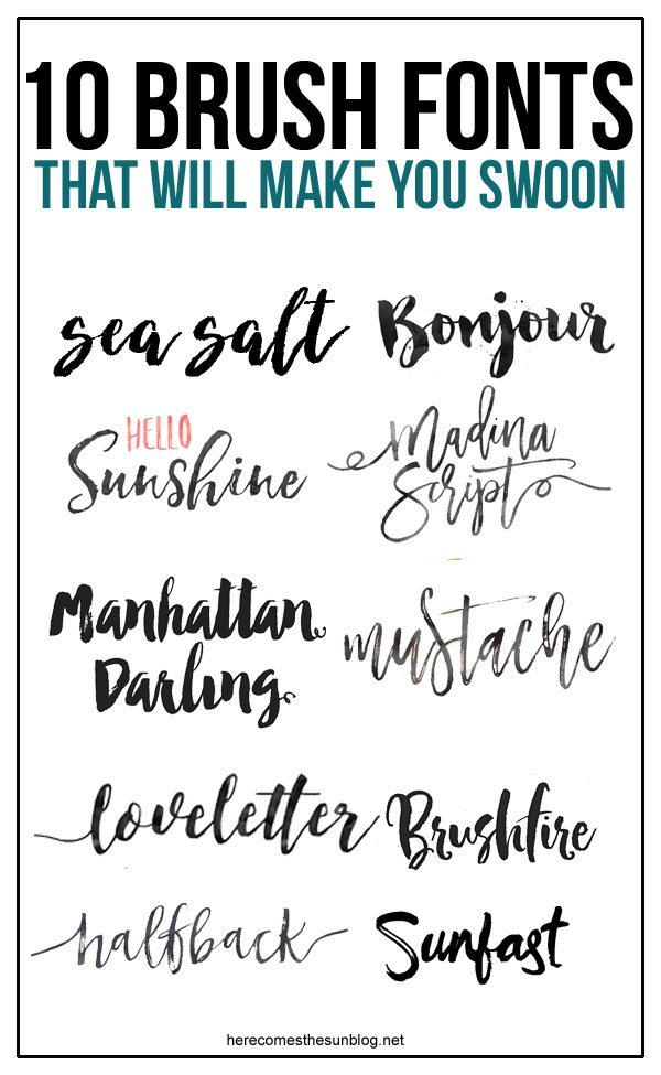 I'm loving this collection of beautiful brush fonts!