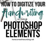 Learn how to digitize your handwriting! I've always wanted to learn how to do this!