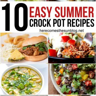 10 easy summer crock pot recipes! I can't wait to try these!