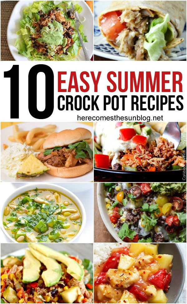 These 10 easy summer crock pot recipes will make meal planning a breeze. Drop one into your crock pot today for a delicious dinner.