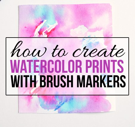 How to Create Watercolor Prints with Brush Markers