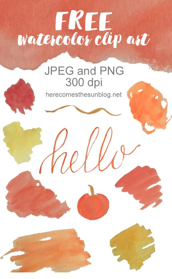 This Fall watercolor clip art is gorgeous! I can't wait to use it in my next project.