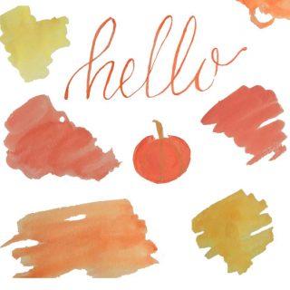 Fall Watercolor Clip Art
