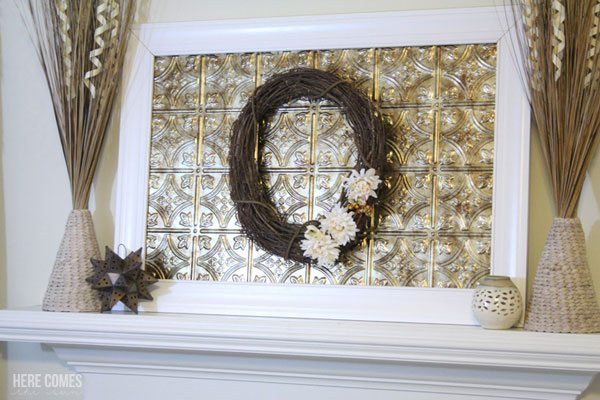 This DIY frame is an easy project that you can complete in an afternoon. It is lightweight and perfect for your mantel decor.