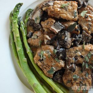 Pork Loin with Balsamic Portobello Mushroom Sauce