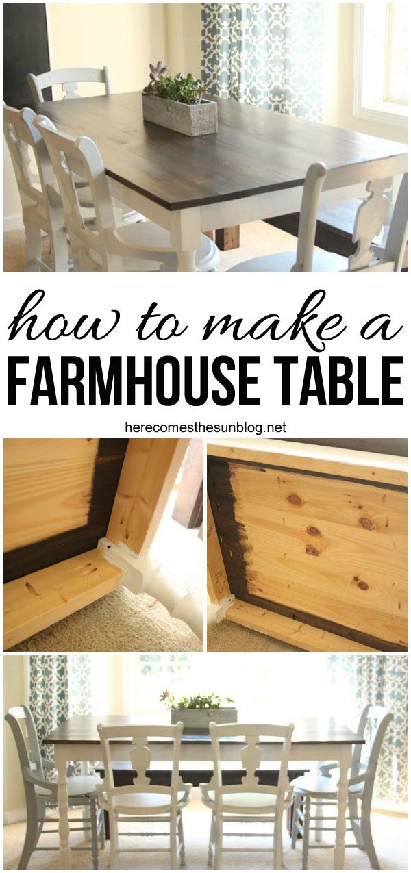 How to build a farmhouse table here comes the sun for Build your own farmhouse