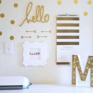 Create this beautiful gold foil print with this easy tutorial!