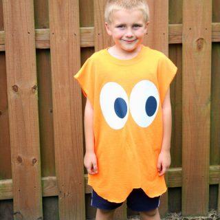 DIY Pacman Ghost Halloween Costume