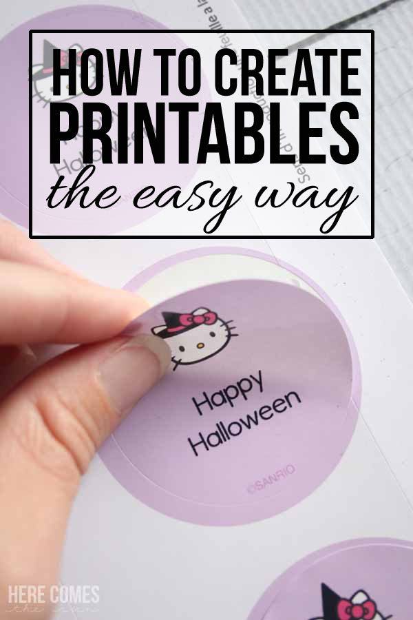 how to create printables the easy way here comes the sun