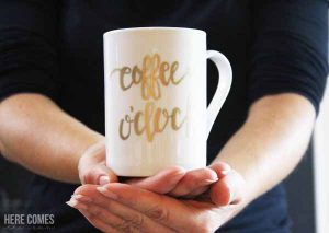 DIY Hand Lettered Mug and Coffee – The Perfect Gift