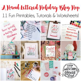 Get hand lettering tips and download 11 free hand letering worksheets and printables!
