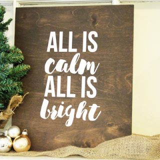 How to Make a Rustic Christmas Sign