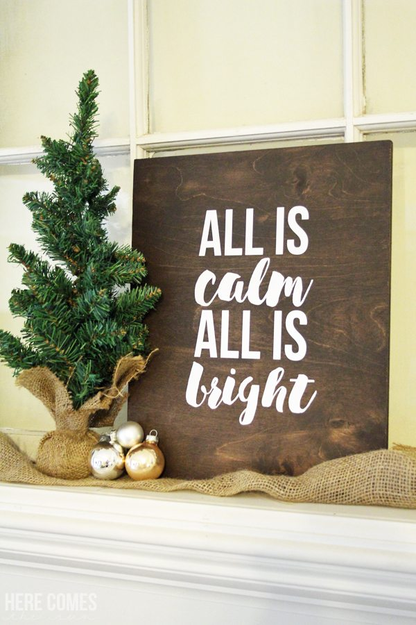 This rustic Christmas sign is a quick and easy craft and perfect for beginners! Click to learn how to make it.