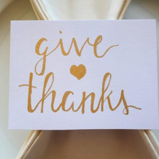 Hand Lettered Thanksgiving Place Cards