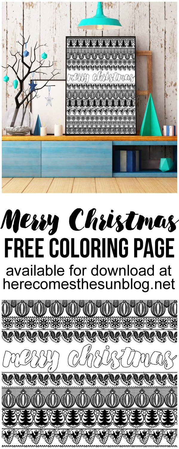 This Merry Christmas coloring page is perfect for both kids AND adults!