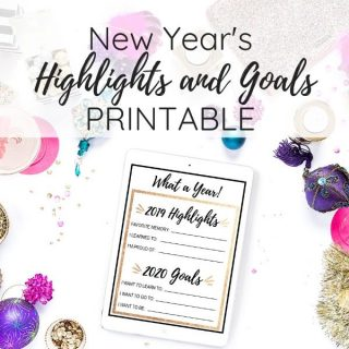 new years goals printables