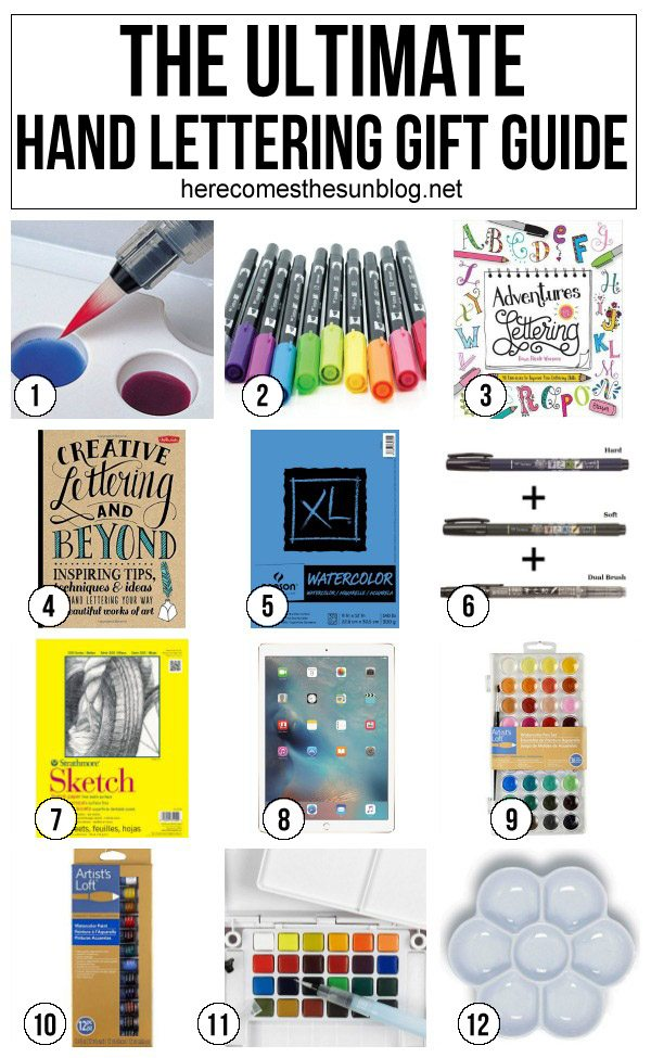 Got an artistic person that you need to buy for this holiday? This hand lettering gift guide has some great ideas!