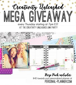 Creativity Unleashed Link Party and Personal Planner Giveaway