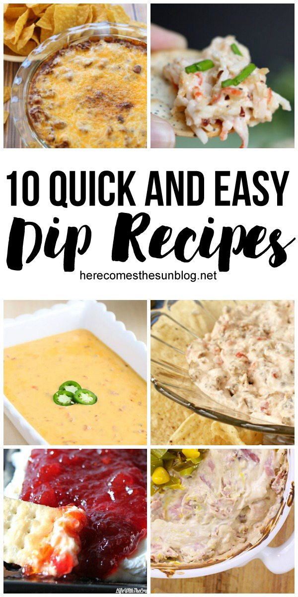 Easy dip recipes! Many have only 3 ingredients!