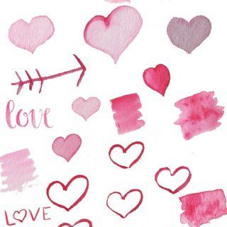 Valentine's Day Watercolor Clip Art