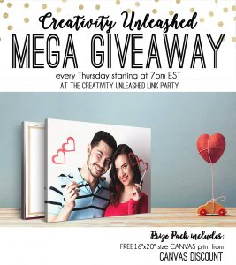 Creativity Unleashed Link Party and Canvas Discount Giveaway