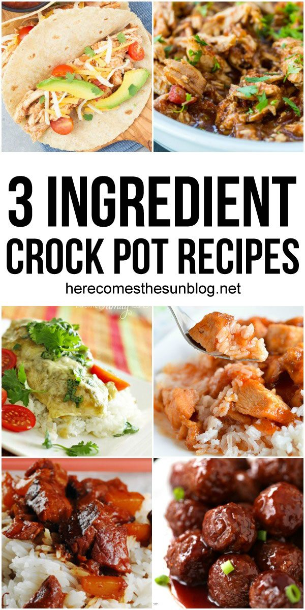 Get dinner on the table FAST with these easy 3 ingredient crock pot recipes!