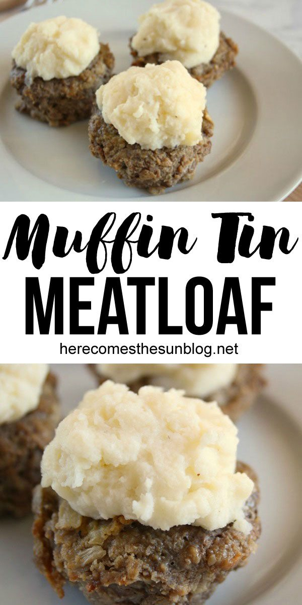 This muffin tin meatloaf looks delicious! And it's so easy to make!