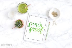 Hand Lettered St. Patrick's Day Print