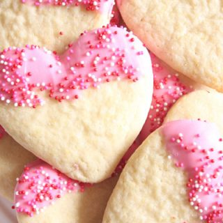 Chocolate Dipped Valentine Sugar Cookies