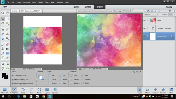 Learn how to create watercolor brush lettering with Photoshop Elements
