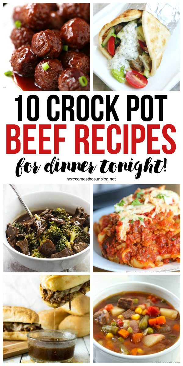 These beef crock pot recipes are super easy to make! Get dinner on the table fast tonight!