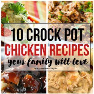 10 Chicken Crock Pot Recipes