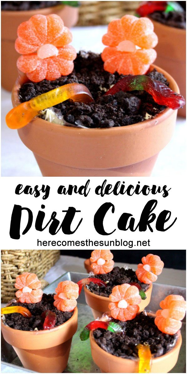 Dirt cake is a delicious treat that is really easy to make!