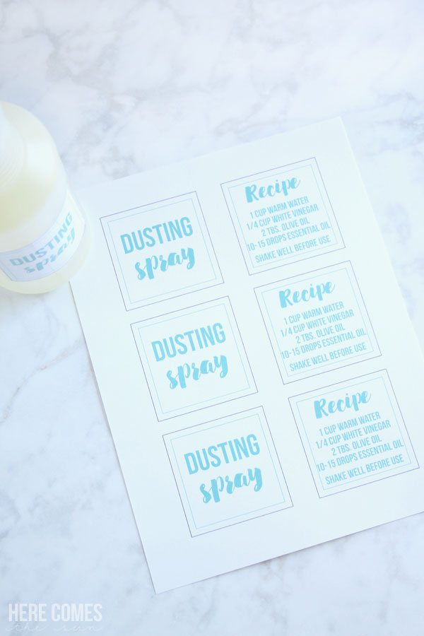 This DIY dusting spray costs WAY less than Pledge and contains no harmful chemicals.
