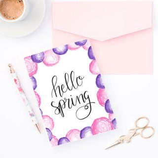 Hand Lettered Watercolor Spring Printable