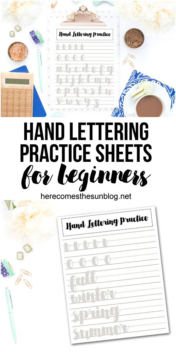 Use these hand lettering practice sheets for beginners to get started on your hand lettering journey.