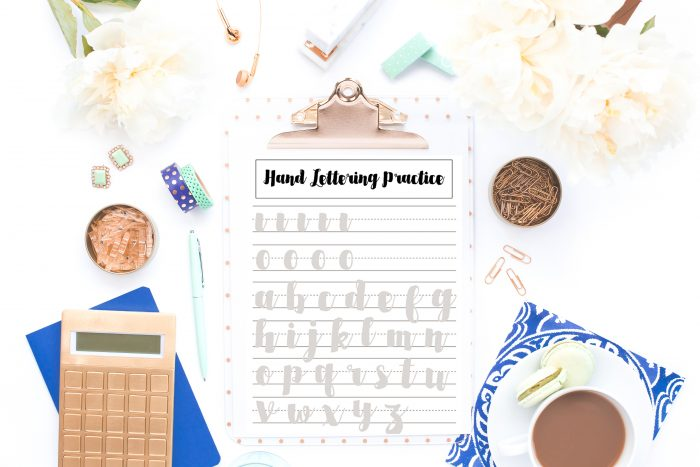Hand Lettering Practice Sheets for Beginners