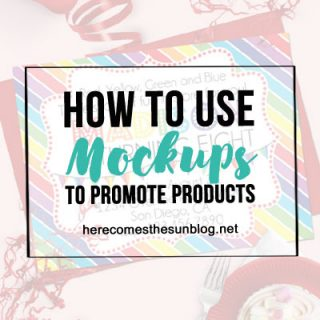 Mockups are a such a timesaver! Learn how to use mockups to promote products!