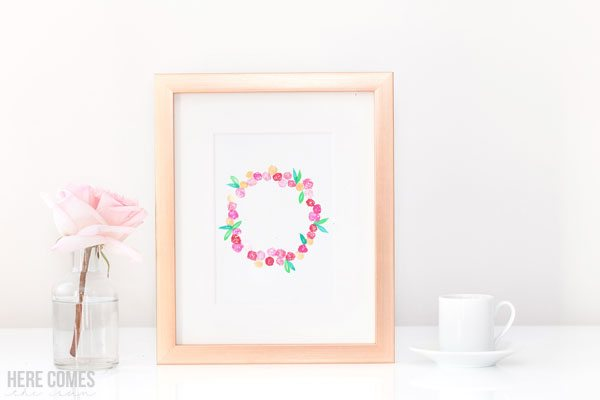 Use this beautiful spring wreath watercolor clip art in all your Spring designs!